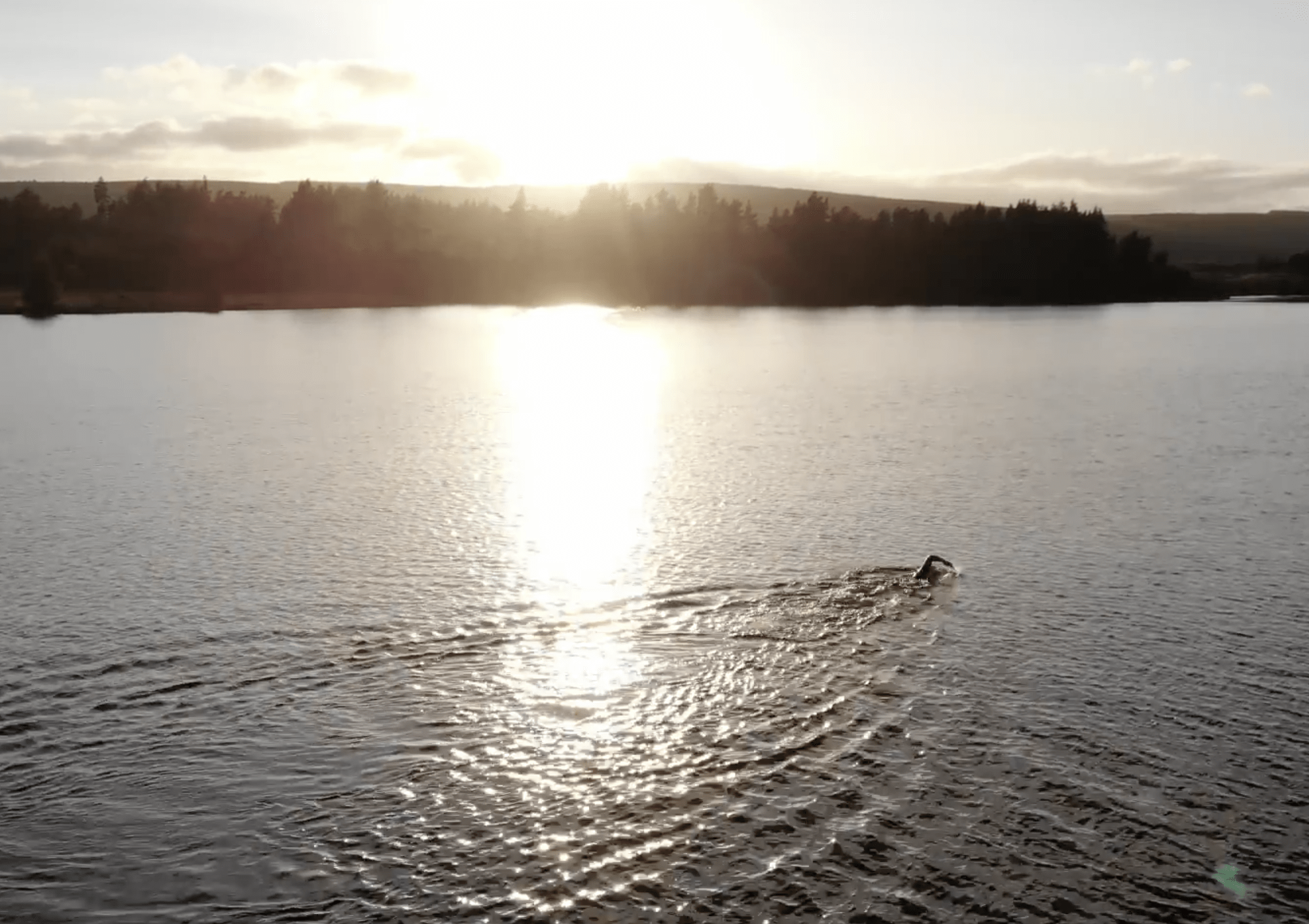 Relieving burn out with a dip in ice-cold Loch Shin